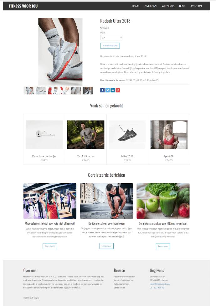 Product detailpagina JouwWeb