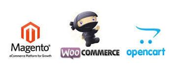 Magento woocommerce opencart