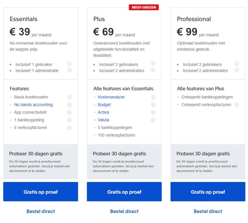 Prijs van Exact Software