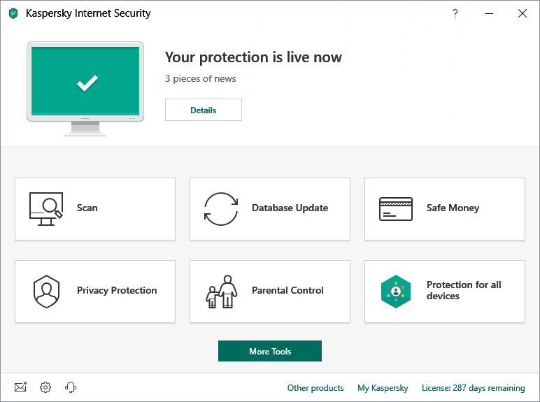 2019 interface kaspersky