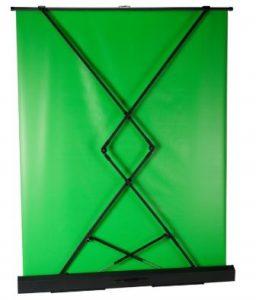 Groen staand chroma key scherm